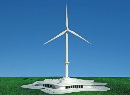 michael jantzen, wind power, celebration center, wind farm celebration center, concept, building concept