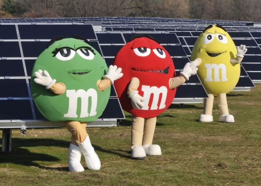 solar power, photovoltaics, Mars Chocolates, M&Ms, MMs, candy, solar powered factory, Hackettstown, New Jersey, PSEG Solar Source