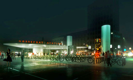 Norreport Train Station, copenhagen, COBE Architects, bike-friendly, bike parking, train station, natural ventilation