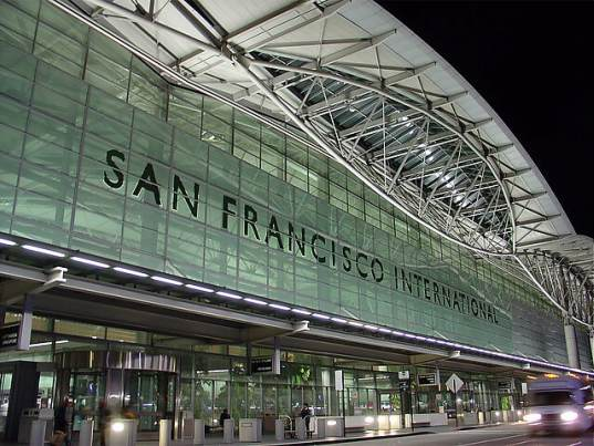 SFO, san francisco, SF, kiosk, airport kiosk, carbon offset, carbon offseting, carbon mitigation, carbon offset kiosk, gavin newsom, air travel, environmental impacts of air travel, climate passport program, 3Degrees