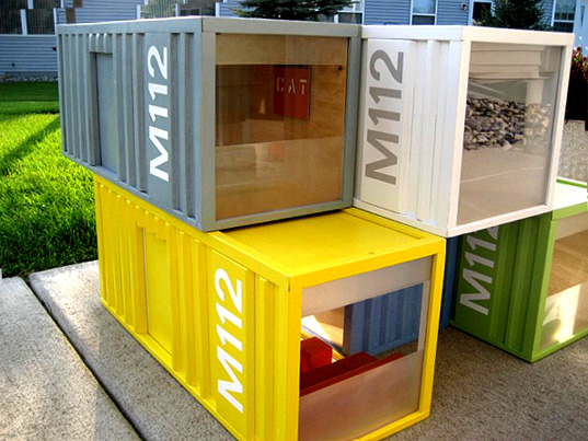 children's modern design, dollhouse  eco kids, eco toy, green building, green families, green kids, green toys, m112 miniature pod, m112 miniature shipping containers, m112 pod, mod dollhouse, modern design for kids, modern dollhouse,  paris renfroe design