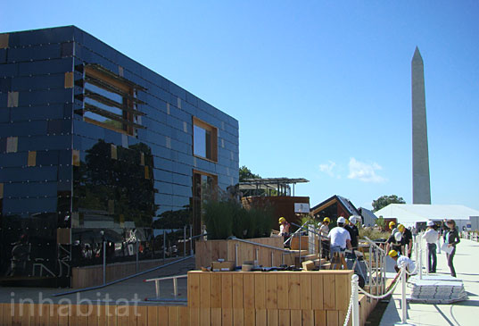 GermanySolDMonument, solar decathlon, solar decathlon 2009, winners, winner, Team Germany, Illinois, net metering, solar power, net zero, pv panels, energy efficient design