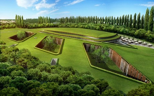 Subterranean Hotel, Green Building, Sustainable Building, Green Hotels, Sustainable Hotels, ReardonSmith Architects, Hersham Golf Club, London Green Belt, Green Roofs