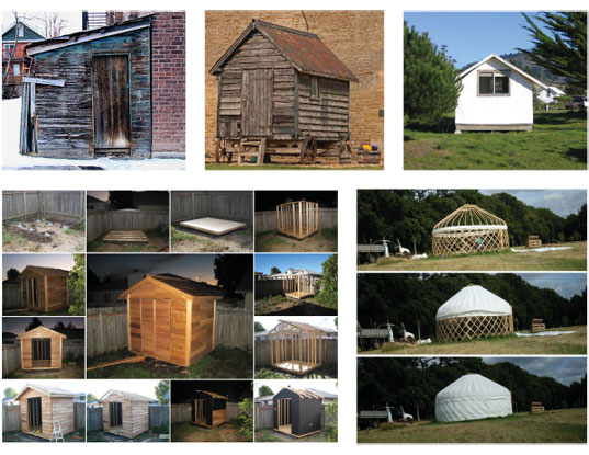 shed, cabana, shack, hut, office, room, yard, architect