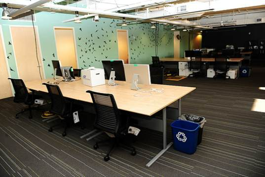 non-toxic furniture, low VOC paint, No VOC paint, reclaimed wood, reclaimed barnwood, twitter, twitter's office, eco-friendly office, eco-fr