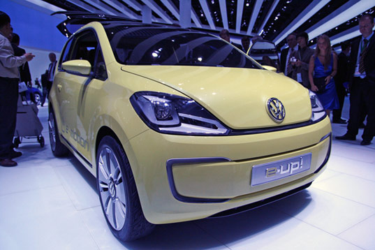 Frankfurt Motor Volkswagen concept hybrid electric up vehicle