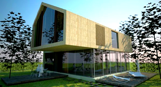 Eco-friendly Residential Prototype House, AKA Architetti, Italian Architecture, Green Home, Prototipo di Casa Unifamiliare