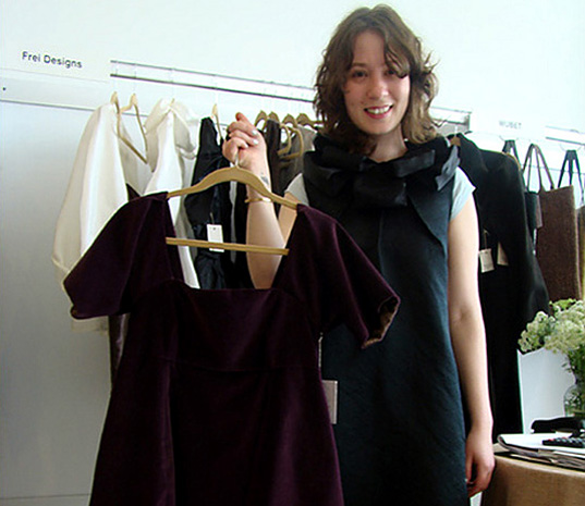 Frei Designs, Anne Novotny, Chicago eco-fashion, Chicago green fashion, Chicago sustainable style, Chicago-made fashion, Frei Designs Persephone dress, hand-dyed fabrics, sustainable fabrics, Frei Designs D&A