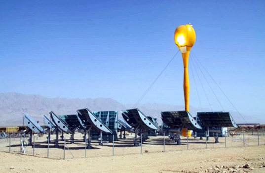sustainable design, green design, concentrating solar plant, aora solar plant, energy, clean technology, renewable energy, kibbutz sammar israel