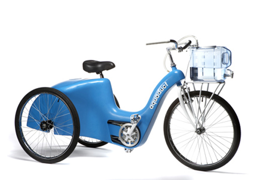 aquaduct water filtering bike, water purifying bike, innovate or die, google competition, specialized competition, socially responsible design, water purification bike, bicycle concept vehicle
