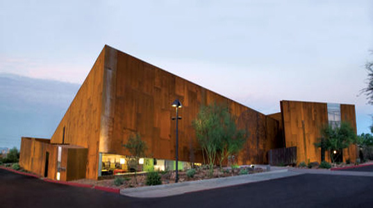 scottsdale arabian library, scottsdale arizona library, sustainable building, green architecture, metropolis smart environments award winner, recycled materials, daylighting, richard and bauer architects