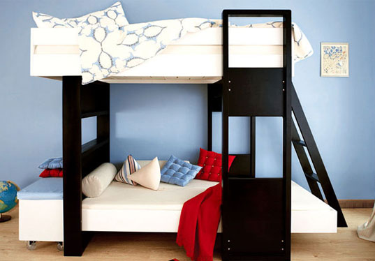 argington, jenny argie, andrew thornington, contemporary children's furniture, bamboo furniture, brooklyn designs, inhabitots, kid-friendly designs, uffizi bunk beds, sahara crib, babylon high chair