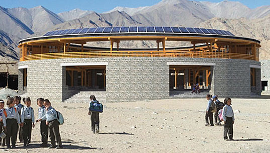 arup, perma karpo library, druk white lotus school, solar panels, innovative technologies, pro bono work, social responsibility, indian school, examples of good design