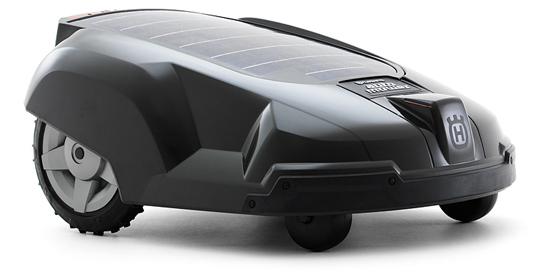 automower, solar powered lawnmower, green gadget, alternative energy, photovoltaic gadget, green design, sustainable design, husqvarna