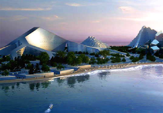 zira island, BIG Architects, Ramboll, carbon neutral island, big architects, azerbaijan zira island, sustainable development, eco-resort, green building, renewable energy island