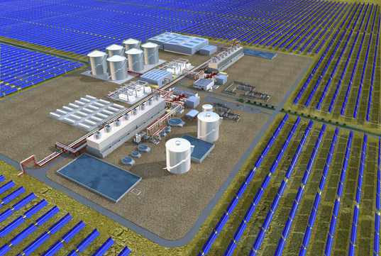 arizona solar, abengoa solar, solar power plant, world's largest solar, largest solar plant, Solana, Phoenix solar power, municipal solar power, CSP technology, concentrating solar power