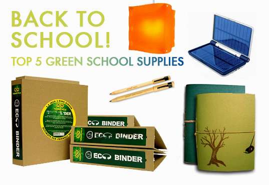back to school, green office supplies, recycled materials, sustainable school supplies, green school supplies
