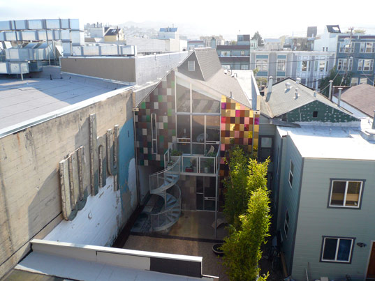 david baker and partners, david baker residence, sustainable architecture, green building, solar panels, alternative energy, biswale, permeable landscaping, san francisco david baker, solar water heater