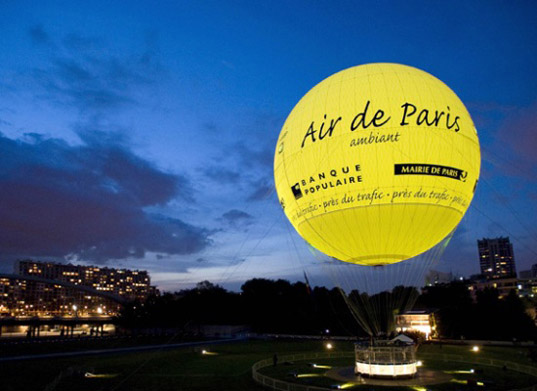 Paris, helium balloon, Ballon de Air Paris, Airparif, air quality Paris, aérophile, pollution, pollution Paris, public information, visual information system, air quality display, air quality visualization, parisballoon4