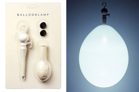 Inflatable Balloon lamp, balloon lamp, designboom shop, LED lamp, LED balloon lamp, holiday stocking stuffer, stocking stuffer LED
