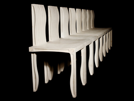 sustainable design, shigeru ban, green design, milan furniture fair, one chair is enough, efficient design, recycled materials, artek, 10-unit system, modular furniture