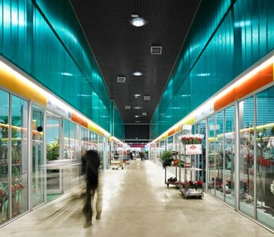 barcelona flower market, mercarbarna flor, sustainable architecture, green building, energy efficient architecture, radiant heating, passive cooling, passive design, willy muller architects