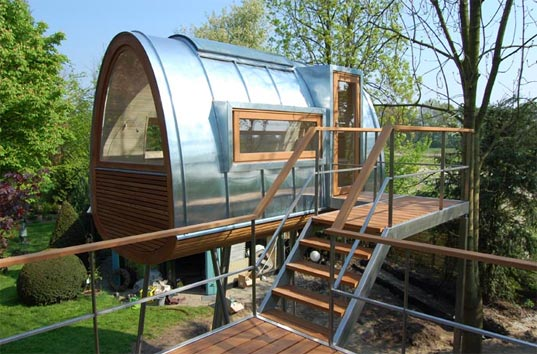 Baumraum Froschköenig Treehouse, prefab treehouse, sustainable building, treehouse, eco treehouse