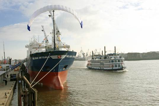mv beluga, kite, sail, wind power, sail ship, cargo ship
