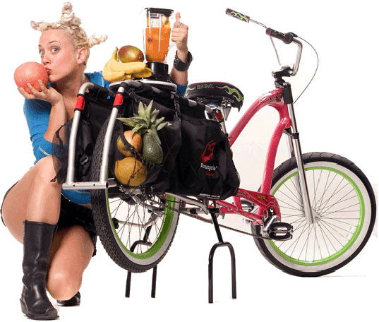 bike blender, human powered bike, human-power blender, bike blender kit