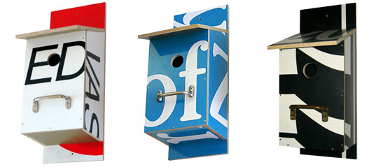 bomdesign billboard birdhouse