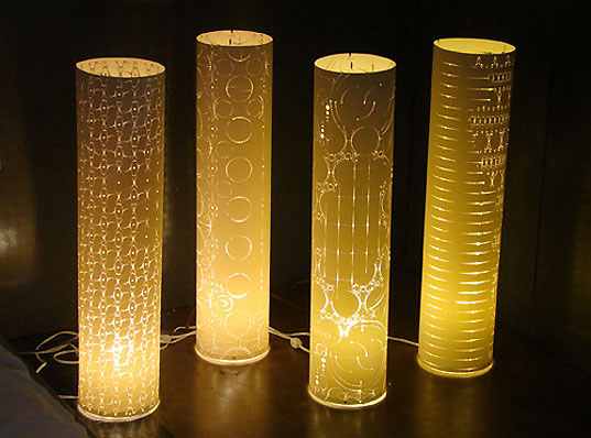 bklyn designs, brooklyn designs, dumbo design furniture, brooklyn furniture, furniture fair new york, bklyn designs 2009, inhabitat bklyn designs, levent romme industrial design, levent romme lamps, paper lamps laser cut