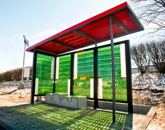 sustainable design, green design, aaron scales, art in motion, recycled materials, green architecture, bottlestop, scales, lextran, ky