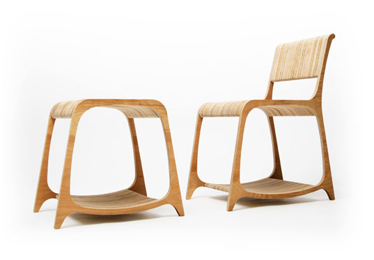 Strata Recycled Wood Furniture by Ryan Frank