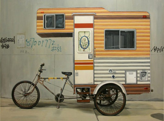 RVs, camper, cab over camper, bike camper, human powered, camper bike