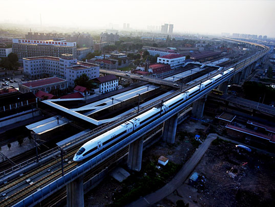 sustainable design, green design, sustainable transportation, high speed rail, high-speed rail, high speed rail line, train, US, China, world's fastest train