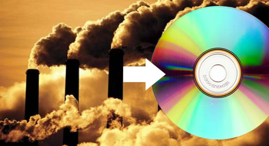 dvd, dvds from carbon dioxide, dvds from CO2, DVDs as carbon sinks, carbon sinks, greenhouse gases, green gadgets, green dvds