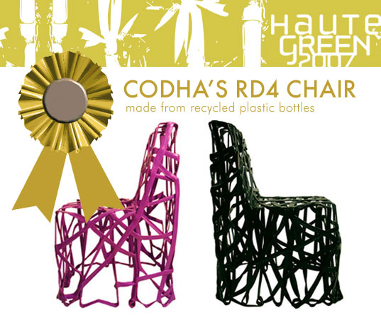 HauteGREEN Editors Choice Awards, Codha RD4 Chair, Recycled Waste Plastic RD4 chair