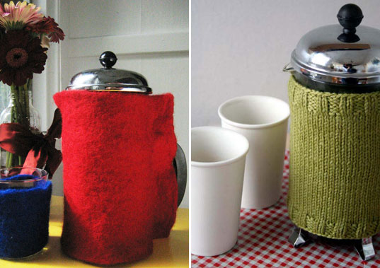 inhabitat green gift guide, sustainable diy gifts, green homemade gifts, holiday gift giving, crafted gifts, handmade gifts, presents, french press
