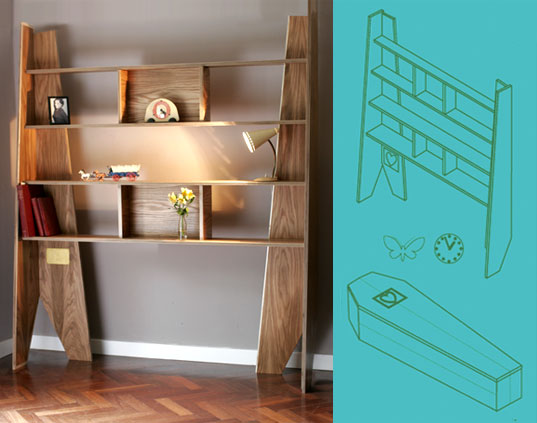 coffin shelves, ww.modcom, shelves for life, sustainable shelves, repurposed furniture, cradle-to-grave