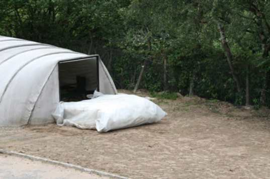 concrete cloth, shelters, disaster, pvc