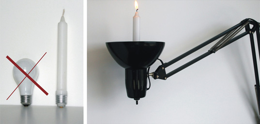 Die Electric, Die Electric Candull, Lightbulb Candle Design, Designer Scott Amron, Design for zero-energy consumption, Design against energy use