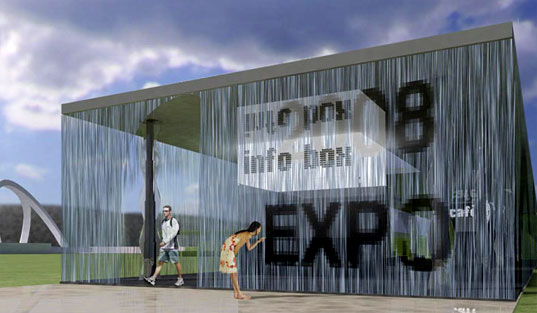 MIT's DIGITAL WATER PAVILION, Carlorattiassociati, Expo Zaragoza 2008, recycled water, digital buildings