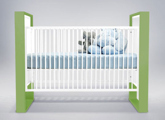 DucDuc, crib, HAP-free, formaldehyde-free, children's, furniture, sustainable wood, baby design, modern baby design, green baby design