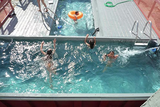 dumpster, dumpster pool, brooklyn, adaptive reuse, reuse, pool, swimming pool