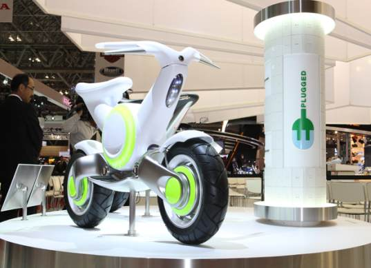 sustainable design, green design, transportation, electric motorcycle, tokyo motor show, yamaha, ev, phev, ec-f