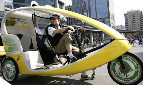 EcoCabs, Toronto EcoCabs, green taxis, green vehicles, bicycle taxis, alternative taxi, green transportation, ecocab_1.jpg
