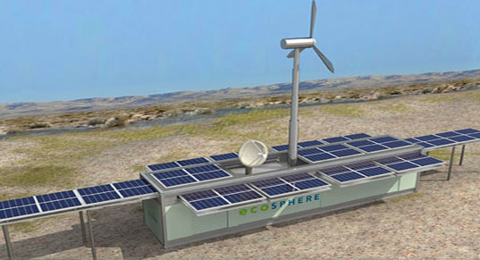 Ecos Lifelink, Ecosphere Energy Systems Inc, EES, Cleantech Venture Forum, San Francisco, CA, Ecosphere, Lifelink, Solar Power Water purfication, Wind power, water purification, solar wireless, solar and wind electricity generation, portable humanitarian device
