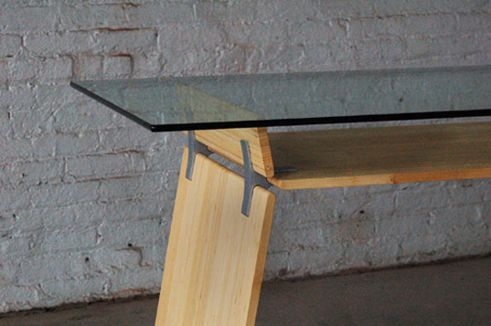 brooklyn designs, bklyn designs, sustainable furniture, bamboo, ecosystems, fsc wood, contemporary furniture, snug-it desk