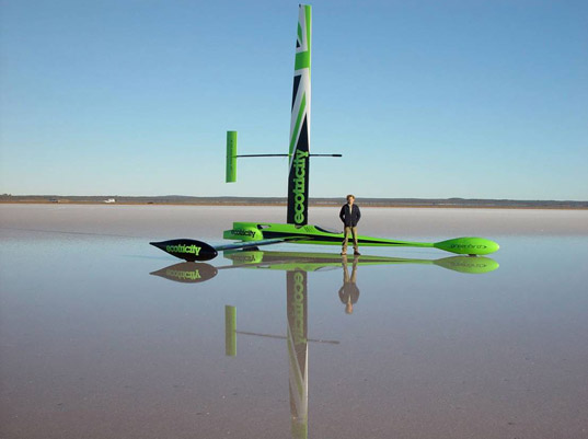 ecotricity, greenbird, richard jenkins, bob schumacher, land-speed record, wind-powered vehicle, alternative energy, energy efficient vehicle, world record