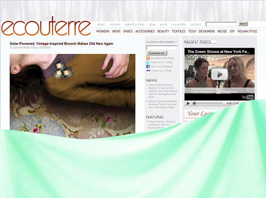 ecouterre unveiling, Ecouterre, Eco fashion website, green design, green fashion, eco-friendly fashion, eco fashion, sustainable style, green fashion